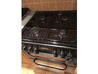Black freestanding cooker