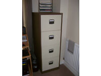 four drawer metal filing cabinet as new