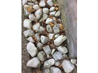 *Free* white garden stones
