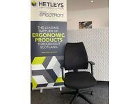 HETLEYS ERGOCUBE C7 ERGONOMIC CHAIR WITH INFLATBLE SEAT AND BACK