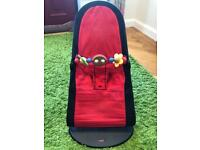 BabyBjorn Bouncer & wooden bar toy £65