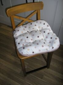 Pine Kitchen Chair with Padded Seat Cushion