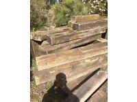 Railway Sleepers x 25. All Genuine Oak Reclaimed.