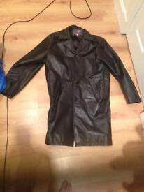 Men's Black Leather Jacket Medium