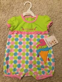 New with Tags! Girly One Piece Outfit Size 6-9 Months - WILL POST FOR £2