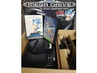 Sega Megadrive Boxed with 2 Games, Control Pad, AC Adapter and RF lead