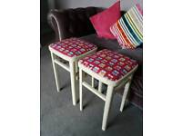 REDUCED FOR A QUICK SALE PAIR OF RETRO KITCHEN STOOLS
