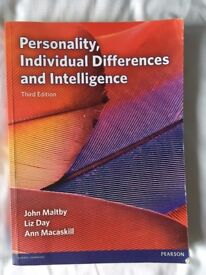Personality, Individual Differences and Intelligence, Third Edition, John Maltby etc