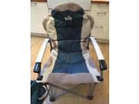 2 x Royal Commander padded camping chairs