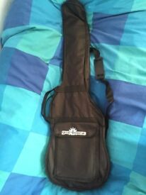 Ibanez GSRM20B GIO MiKro, Walnut Flat Bass Guitar and 3/4 size Bass Guitar Bag