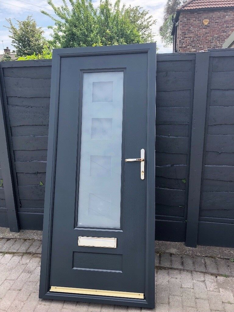 Composite Door Anthracite Grey Rock Door In Manchester