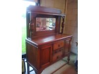 vintage decorative sideboard with mirror (possible delivery)