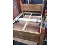 Wooden double bed 4.6ft