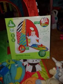 Sensory dome tent and other toys