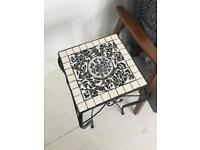 Decorative Side table - tile top