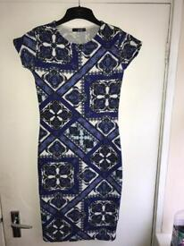 Quiz patterned dress- bodycon size 12