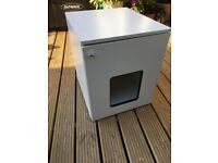 Large cat or kitty litter box cupboard, white, FREE