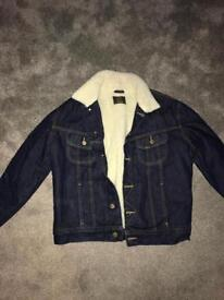 Brand new Denim lined jacket