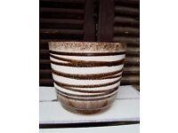 1970s Retro West German Pottery Scheurich Plant Pot