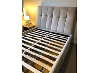 Lovely velvet double bed with 4 drawers - Nearly new