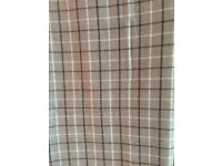 Brand new 90 x 90 (229 x 229) neutral checked curtains - bargain price