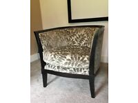 Solid wood and designer fabric Tub Chair