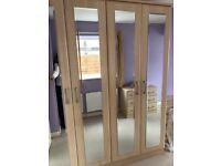 Modern Tall 4 Door Wardrobe with 4 Mirrors