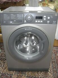 Hotpoint Aquarius WMAQF 721G Washing Machine, graphite grey, excellent condition