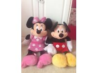 Giant Minnie Mouse and Mickey Mouse from the Disney store