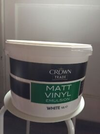 Crown trade matt vinyl emulsion white 10L