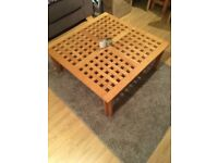 Coffee table and rug