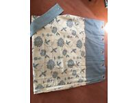 Full length pair of curtains and matching cushion covers