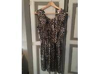 Top shop Leopard Print Dress (delivery available)