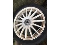 Set of Vauxhall 18inch 5x110 alloys with good tyres