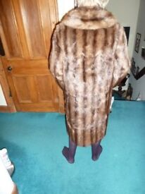Real Fur Vintage Full Length Coat