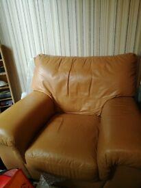 1 & 2 Seater Leather Sofa