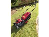 Mountfield SP460 petrol mower with Briggs and Stratton engine. About 8 years old in good condition.