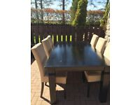 Hardwood quality 6 seating dining table & chairs
