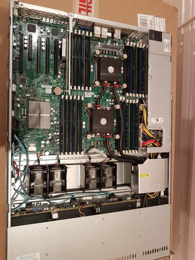 Watercooled Dual Intel LGA2011 Xeon Server Supermicro CSE-815 (X9DRi-LN4F+)  2x E5-2640V1 32GB RAM | in Guildford, Surrey | Gumtree