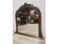 Antique Gold Over Mantle Mirror (DELIVERY AVAILABLE)