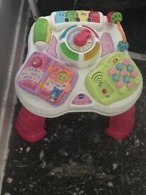 Pink activity table excellent condition