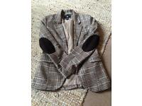 Check tweed style tailored jacket H&M size 10