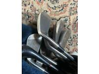 Golf bag & clubs,trolley, balls