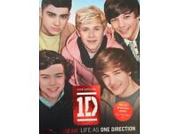 One Direction, Union J and 5 Seconds of Summer books and a poster