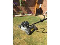 Mountfield motor mower 1 year old with 2 years warranty
