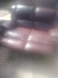 Double sofa leather recliner Bargain quicker its collected cheaper it is