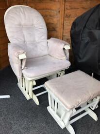 Glider nursing chair & foot stool