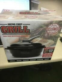 Micro chef grill deluxe in black