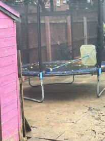 10 or 12ft trampoline and enclosure