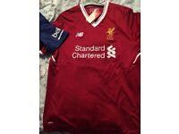 Barcelona and Liverpool shirts